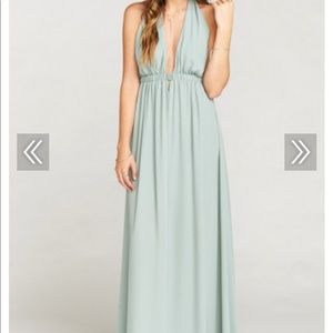 Show Me Your MuMu Silver Sage Luna Halter Dress